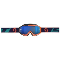 Motocross Goggles SCOTT Hustle MX Orange Blue,Motocross Goggles