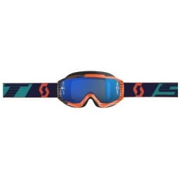 Occhiali Motocross SCOTT Hustle MX Orange Blue,Occhiali Maschere Motocross