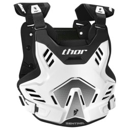 Chest Roost Protective Motocross THOR Sentinel GP White