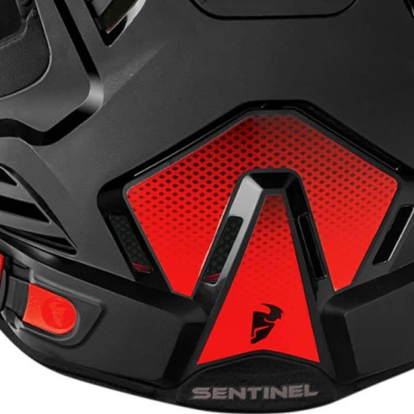 Chest Roost Protective Motocross THOR Sentinel GP Black Red