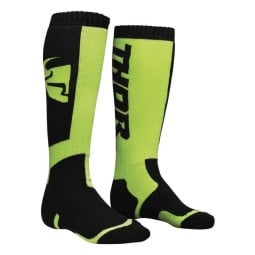 Chaussettes Motocross THOR MX Sock Black Lime,Chausettes Cross