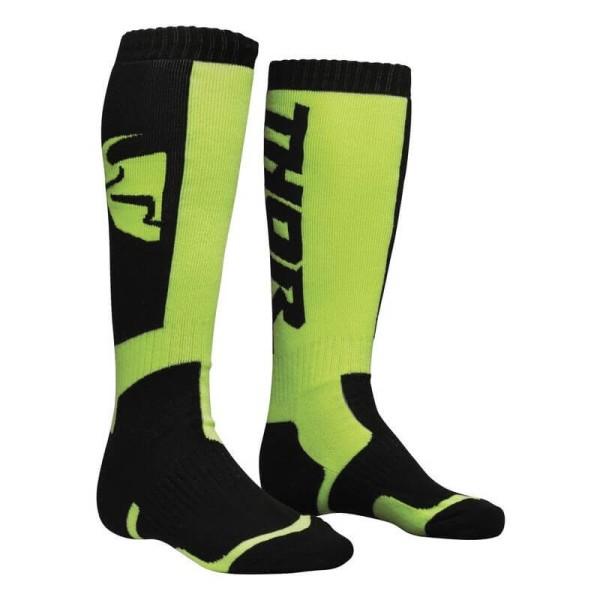 Motocross-Socken THOR MX Sock Black Lime