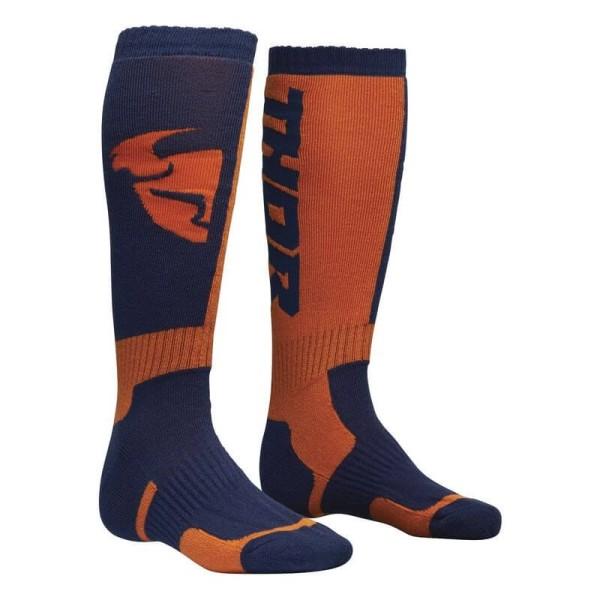 Chaussettes Motocross THOR MX Sock Blue Orange