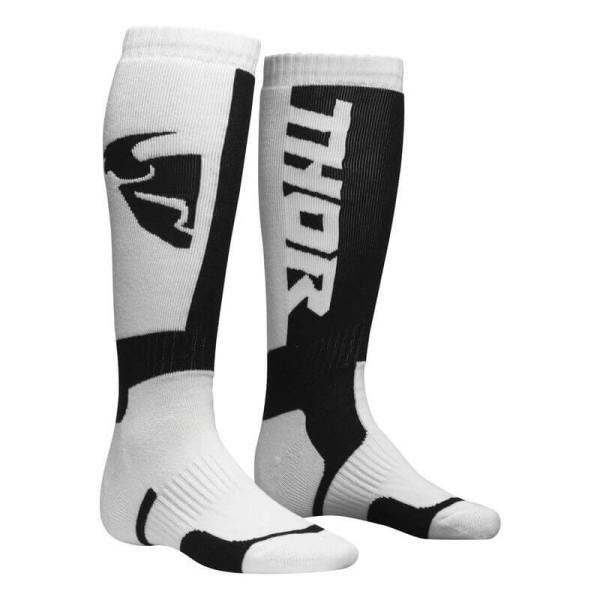 Calcetines de motocross THOR MX Sock White Black