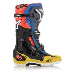 Stivali Motocross Alpinestars Tech 10 Black Yellow Blue,Stivali Motocross