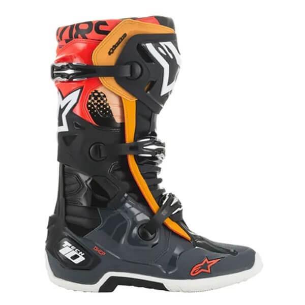 Botas Motocross Alpinestars Tech 10 Black Grey Orange