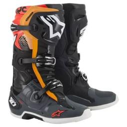 Bottes Motocross Alpinestars Tech 10 Black Grey Orange,Bottes Motocross
