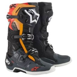 Stivali Motocross Alpinestars Tech 10 Black Grey Orange,Stivali Motocross