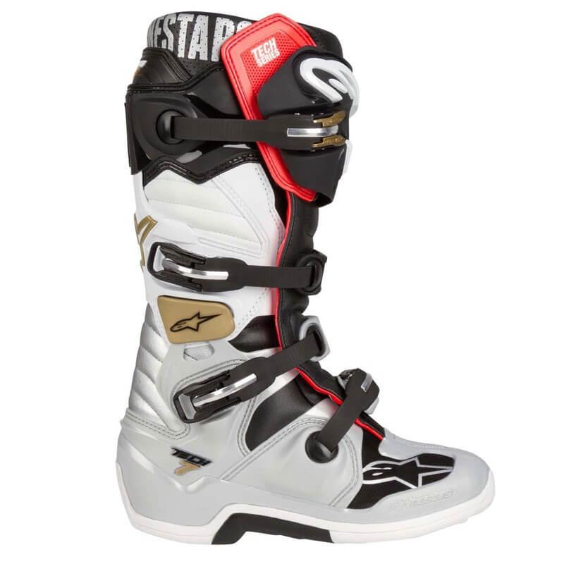 7 Motocross Silver Tech Boots Alpinestars Black w8Pkn0ONXZ