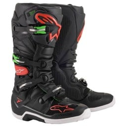 Stivali Motocross Alpinestars Tech 7 Black Red Green ,Stivali Motocross