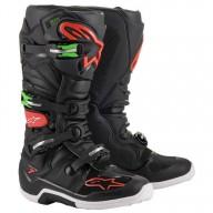Botas Motocross Alpinestars Tech 7 Black Red Green