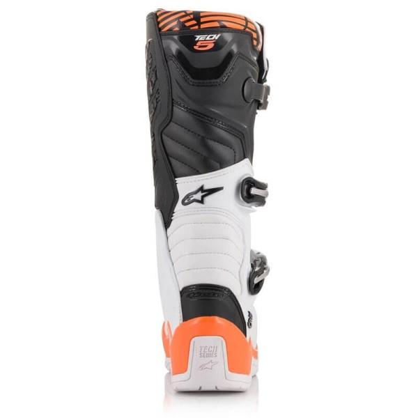 Motocross Stiefel Alpinestars Tech 5 White Orange
