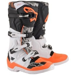 Stivali Motocross Alpinestars Tech 5 White Orange,Stivali Motocross