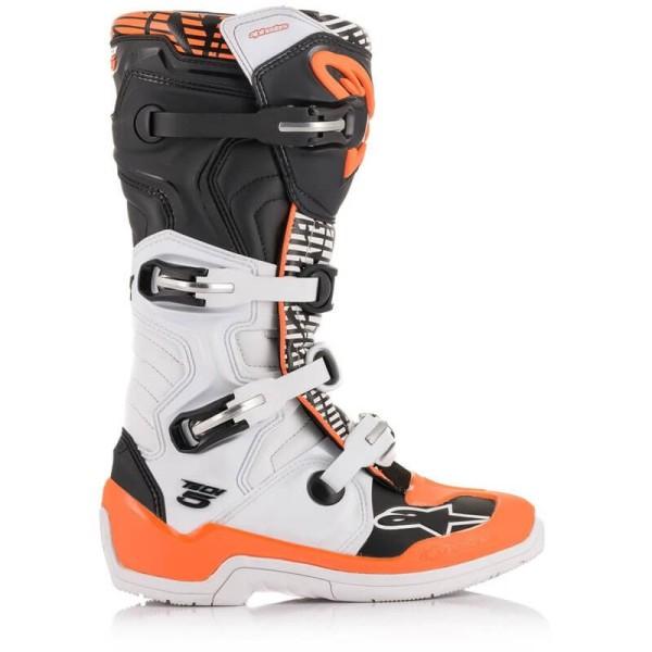 Bottes Motocross Alpinestars Tech 5 White Orange