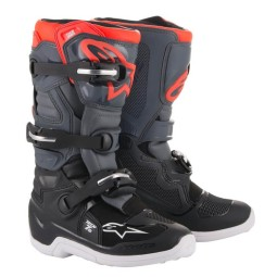 Minicross Boots Alpinestars Tech 7S Black Grey Red,Motocross Boots