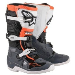Minicross Boots Alpinestars Tech 7S Black White Orange,Motocross Boots