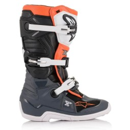 Bottes Minicross Alpinestars Tech 7S Black White Orange,Bottes Motocross