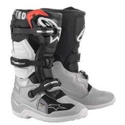 Minicross Boots Alpinestars Tech 7S Black Silver Gold,Motocross Boots