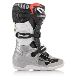 Stivali Minicross Alpinestars Tech 7S Black Silver Gold