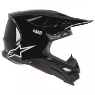 Casque Motocross Alpinestars S-M8 Solid Black Glossy