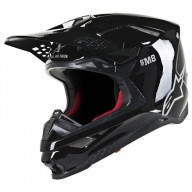 Casco de Motocross Alpinestars S-M8 Solid Black Glossy