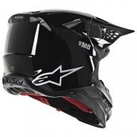 Motocross Helmet Alpinestars S-M8 Solid Black Glossy