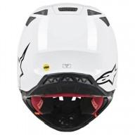 Motocross Helmet Alpinestars S-M8 Solid White Glossy
