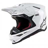 Casque Motocross Alpinestars S-M8 Solid White Glossy