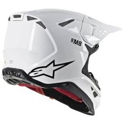 Casco Motocross Alpinestars S-M8 Solid White Glossy,Caschi Motocross