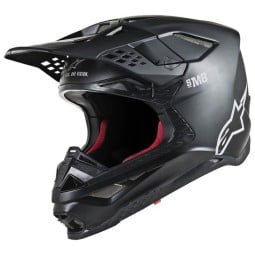 Casco Motocross Alpinestars S-M8 Solid Black Matte