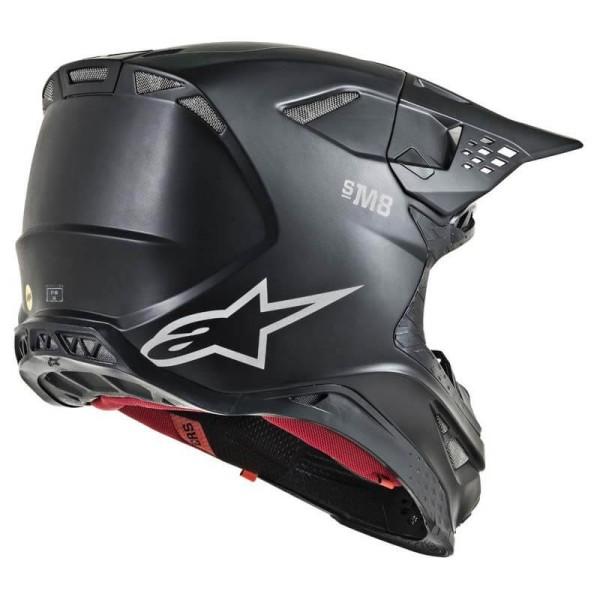 Casco de Motocross Alpinestars S-M8 Solid Black Matte