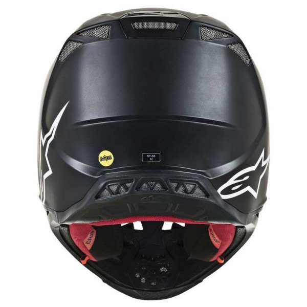 Casque Motocross Alpinestars S-M8 Solid Black Matte