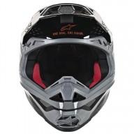 Motocross Helmet Alpinestars S-M8 Triple Orange Grey