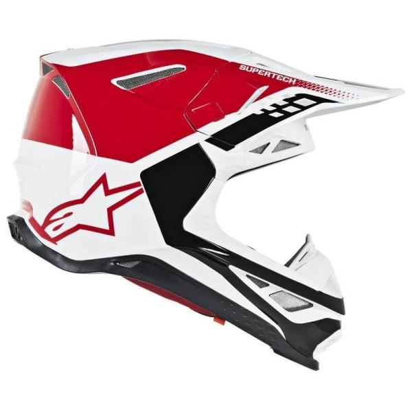 Motocross Helm Alpinestars S-M8 Triple Red White