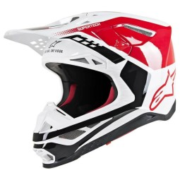 Motocross Helmet Alpinestars S-M8 Triple Red White,Motocross Helmets