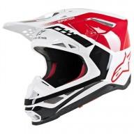 Motocross Helmet Alpinestars S-M8 Triple Red White