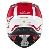 Casco de Motocross Alpinestars S-M8 Triple Red White