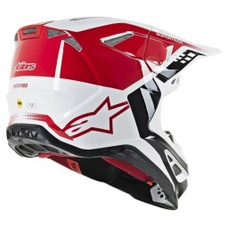 Casque Motocross Alpinestars S-M8 Triple Red White