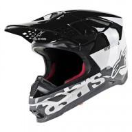 Motocross Helmet Alpinestars S-M8 Radium Black White