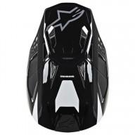 Motocross Helm Alpinestars S-M8 Radium Black White