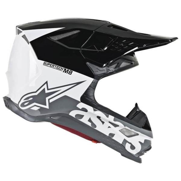 Casco de Motocross Alpinestars S-M8 Radium Black White