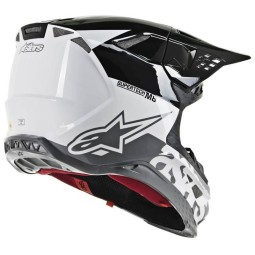 Motocross Helm Alpinestars S-M8 Radium Black White
