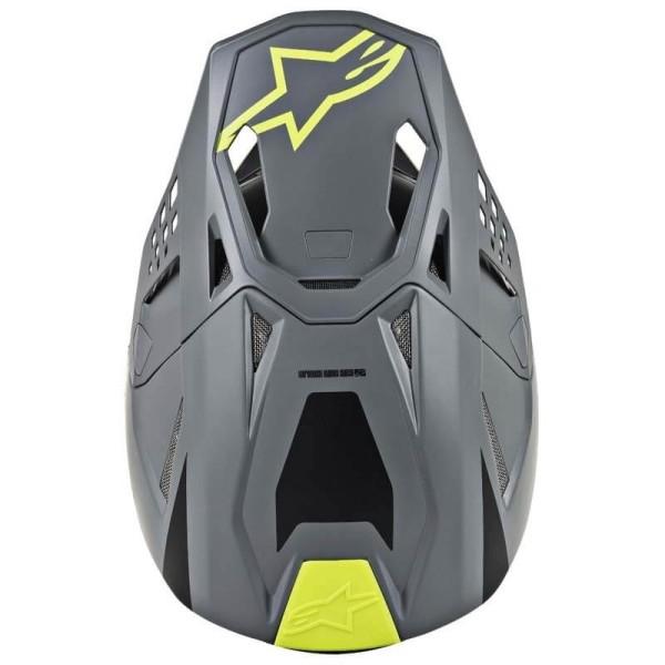 Motocross Helmet Alpinestars S-M8 Radium Grey Yellow