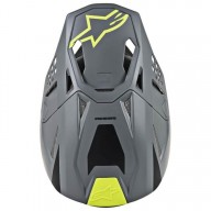Casco de Motocross Alpinestars S-M8 Radium Grey Yellow