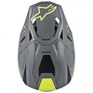 Casque Motocross Alpinestars S-M8 Radium Grey Yellow
