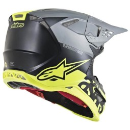 Casque Motocross Alpinestars S-M8 Radium Grey Yellow