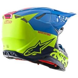 Motocross Helm Alpinestars S-M8 Radium Aqua Yellow
