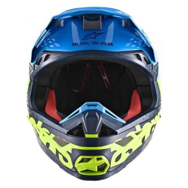 Casque Motocross Alpinestars S-M8 Radium Aqua Yellow
