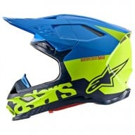 Casco de Motocross Alpinestars S-M8 Radium Aqua Yellow