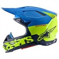 Motocross Helmet Alpinestars S-M8 Radium Aqua Yellow